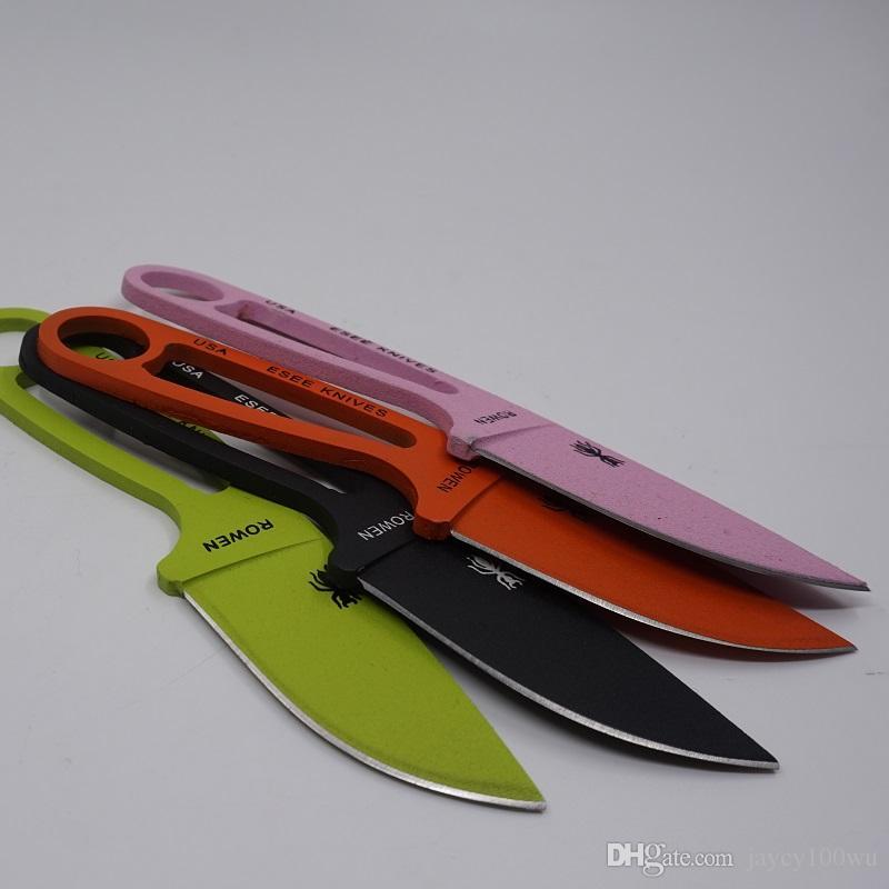 Портативный Муравей небольшой фиксированным лезвием охотничий нож полный Тан прямые ножи 440c стали открытый туризм кемпинг передач нож выживания EDC инструмент