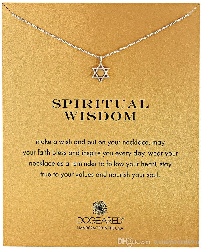 Dogeared Necklace with star pedant spiritual wisdom, silver and gold color, no fade, and high quality.