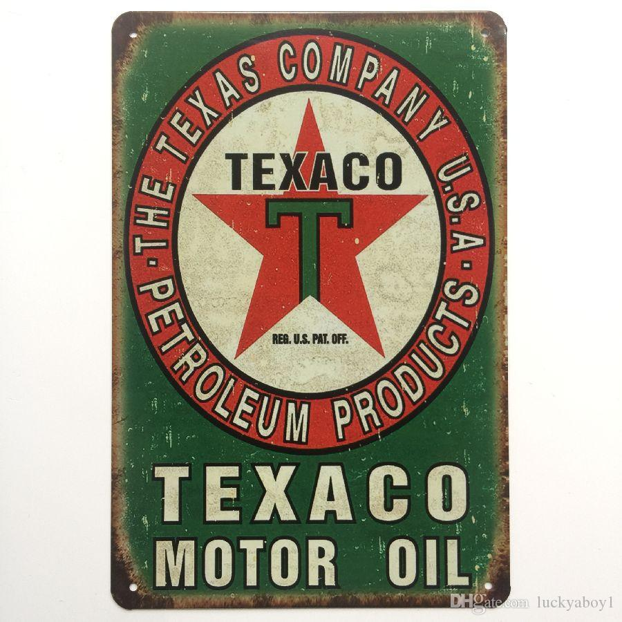 Texaco Motor Oil Retro Vintage Metal Tin sign poster for Man Cave Garage shabby chic wall sticker Cafe Bar home decor