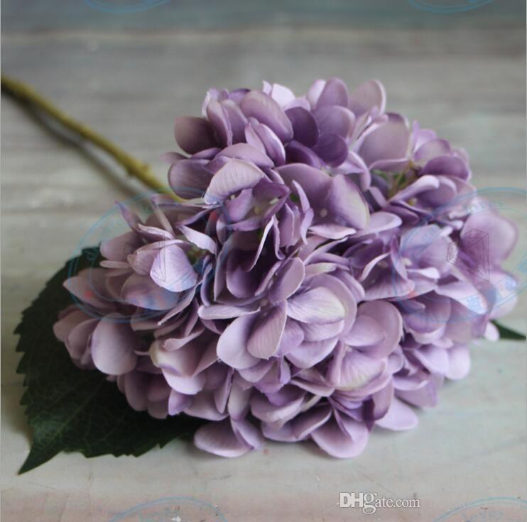 Cabeza de flor de hortensia artificial 47 cm Falsa seda solo toque real hortensias es para boda centros de mesa fiesta en casa flores decorativas