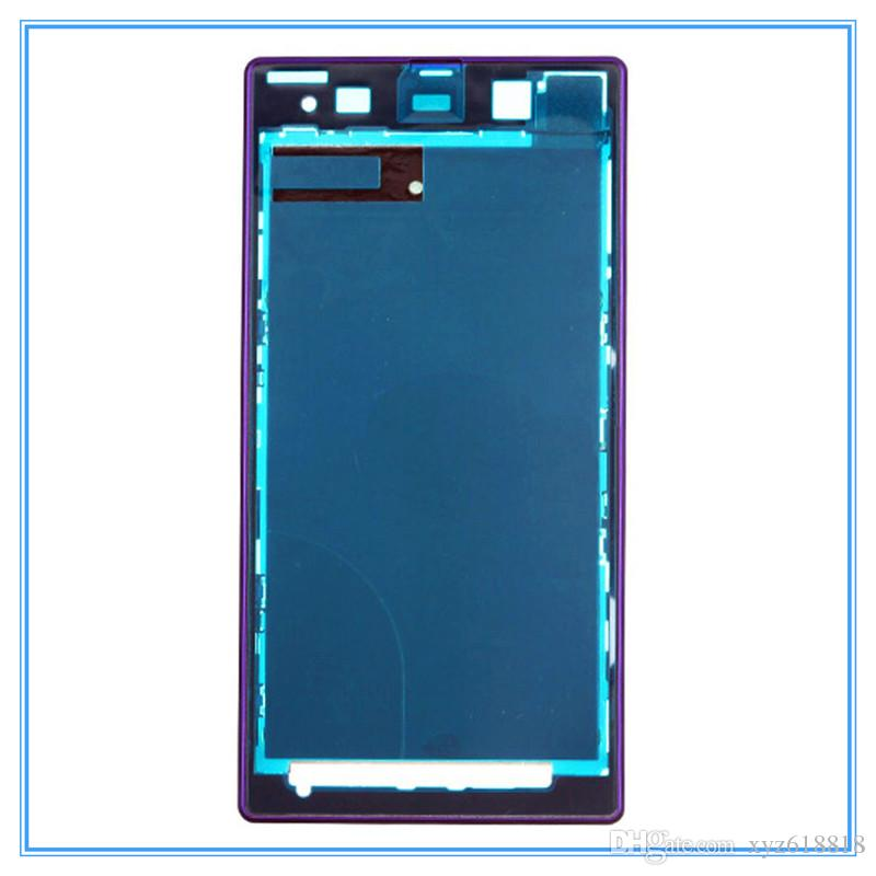 High Quality New Replacement Parts Front Frame Housing Bezel Plate for Sony Xperia Z1 L39h C6903 Whole Sale White Black Purple