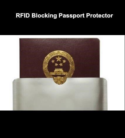 blank RFID blocking sleeve for passport Protector RFID passport Aluminum Sleeve
