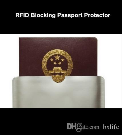 rfid blocking sleeve for passport Protector Anti RFID Aluminum Sleeve