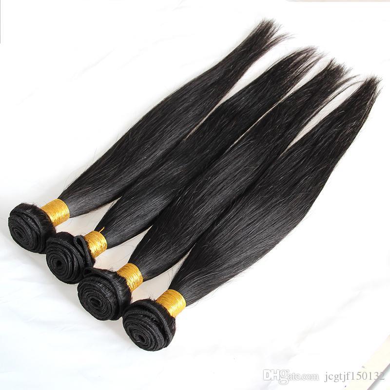 4 pacotes em linha reta Remy cabelo brasileiro Bundles 100% cabelo humano tecelagem cabelo 400n cynosure