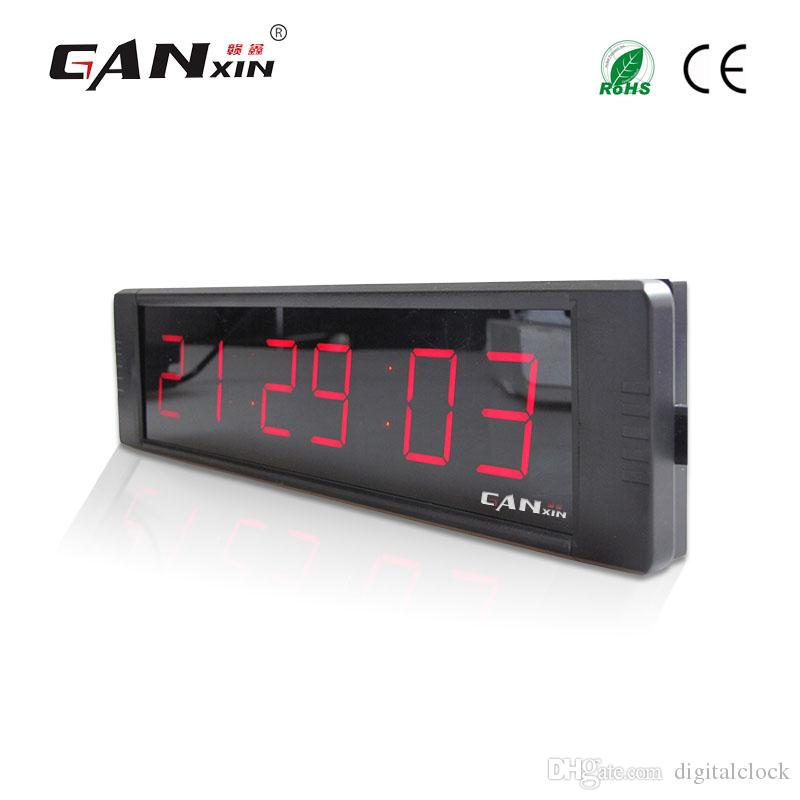 "[Ganxin] 1"" Display 6 Digit High Quality Led Clock with Red Screen Portable Led Digital Wall Clock with Remote Control Countdown Wholesale"