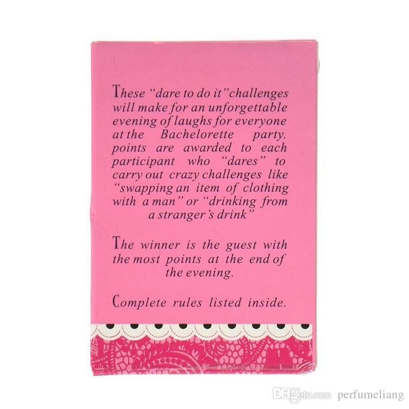 52 Card / 9x6x1 Cm Bachelorette Partido Suprimentos Presente para a Noiva Casamentos Birthday Party Favors Jogos Verdade ou Desafio Poker ZA2991