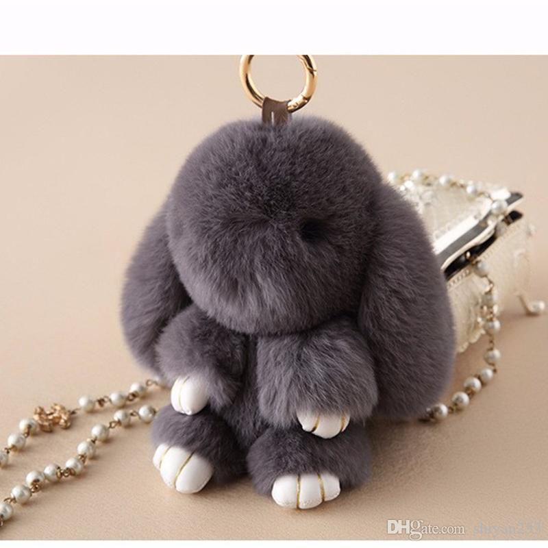 c8f67a210bf 2019 Premium Quality Super Soft Fluffy Adorable Plush Rabbit Stuffed Bunny  Animal Small Pendant Hanging Toy 13cm 5   Height Gift From Shiyan253