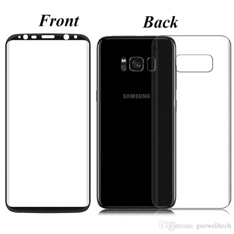 online store f8fed 7057b Hot Sale New Design Front Back Glass 9H 3D Curved Ultra-thin Full Body  Cover Screen Protector Tempered Glass For Samsung Galaxy S8 S8 Plus