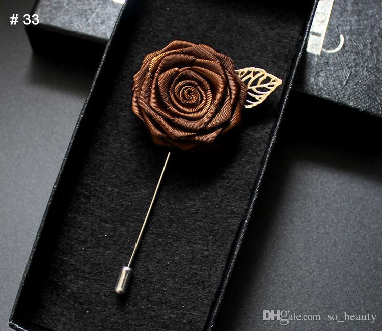 Роза корсаж жених брошь булавка человек свадьба атласные цветы бутоньерка смокинг ну вечеринку аксессуары украшения многоцветные на выбор