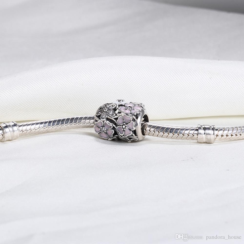 Vente en gros de 925 argent sterling non plaqué coeur fleur coeur open-up open-up ouvrants de charmes européens de perle Fit Pandora serpent chaîne chaîne bracelet bricolage bijoux