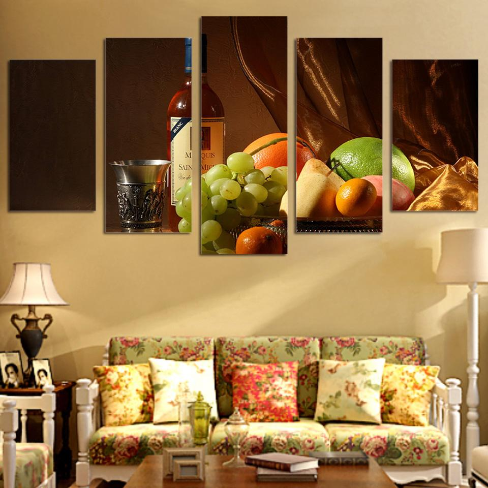 Best Framed Hd Printed Wine Drink Fruit Still Life Picture Wall Art ...