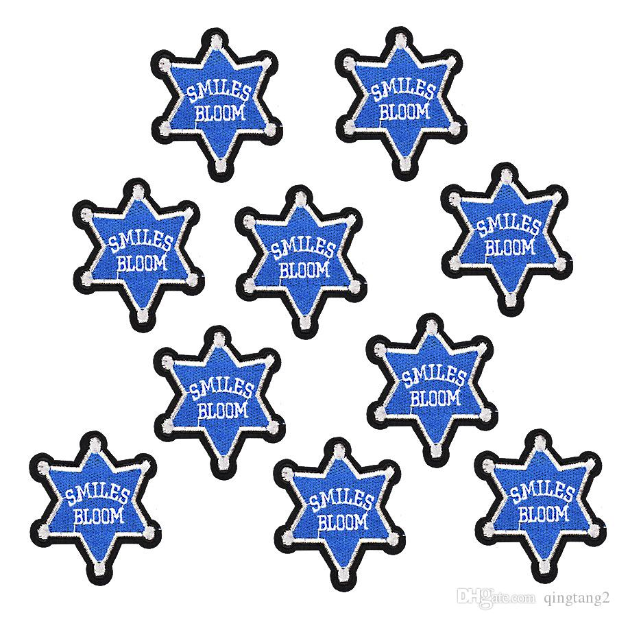 star badge patches for clothing iron-on patch applique iron on embroidery patches sewing supplies accessories stickers on clothes DIY