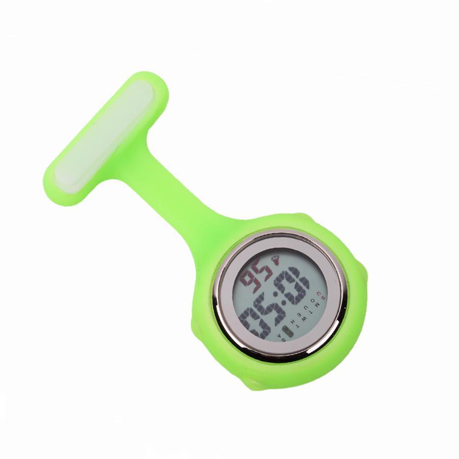 multi-function digital silicone nurse watch with week date calendar hospital doctor nursing clock fob pocket watch medical gift timepiece