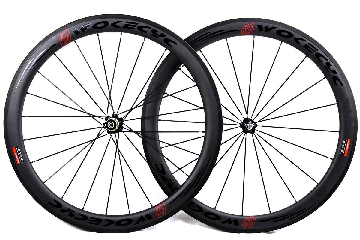 Carbon fiber bicycle wheels 50mm basalt brake surface clincher tubular road cycling bike wheelset Novatec powerway Hubs available UD matt