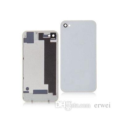 Good AAA Back Battery Housing Cover Glass Replacement for iPhone 4G 4S - white with dhl