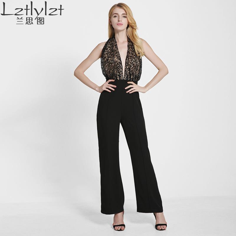 Acheter Lztlylzt Brand Plus Size 2016 Rompers Femmes Black White