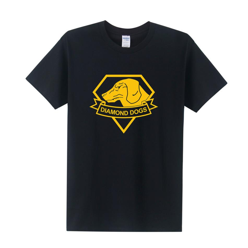 Metal Gear Solid T Shirt New Printed Diamond Dogs T Shirts Short Sleeve O Neck Cotton Casual Men's MGS T-Shirt Tops Tee OT-157