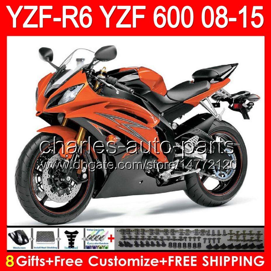 Grosshandel 8gifts Glanz Orange Fur Yamaha Yzf R6 08 09 10 11 12 13 15 Yzf600 86 No X 1 Yzfr6 2008 2009 2010 2011 2012 2013 Top Schwarz 2015