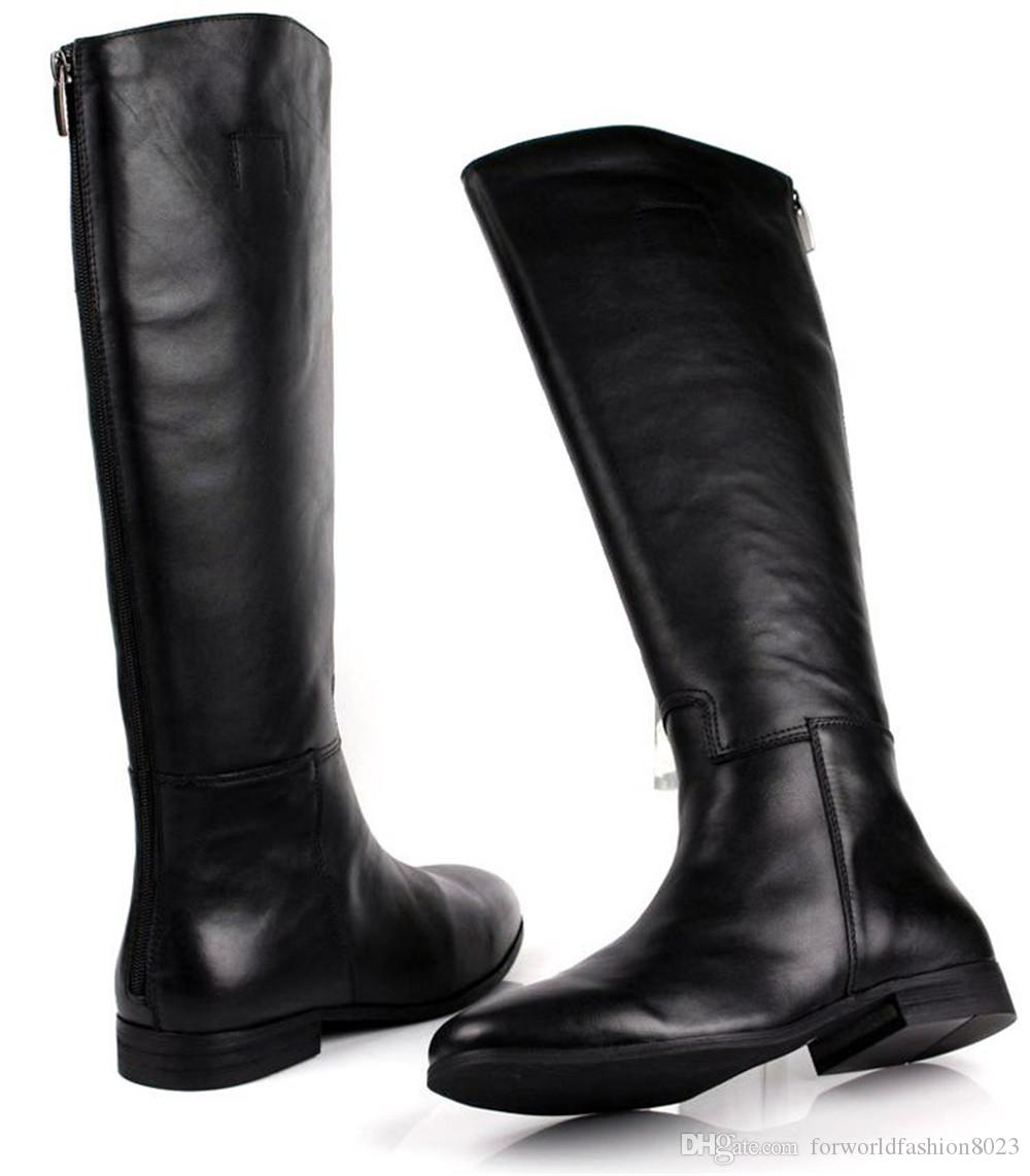 Large Size Mens Knee High Boots Fashion