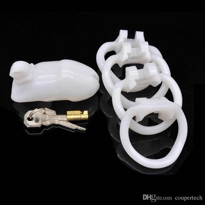 Super kurze Art männliche Keuschheitskäfig Gerät Penis Lock Cock Käfige BDSM Bondage Geräte Männer Sex Produkte für Dick Verriegelung CP-A238