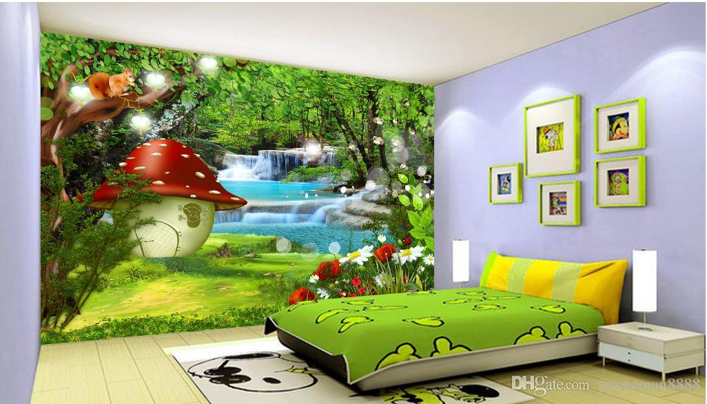 Fotomural personalizado en 3d Dream forest wallpaper murales wallpaper abstracto moderno geométrico