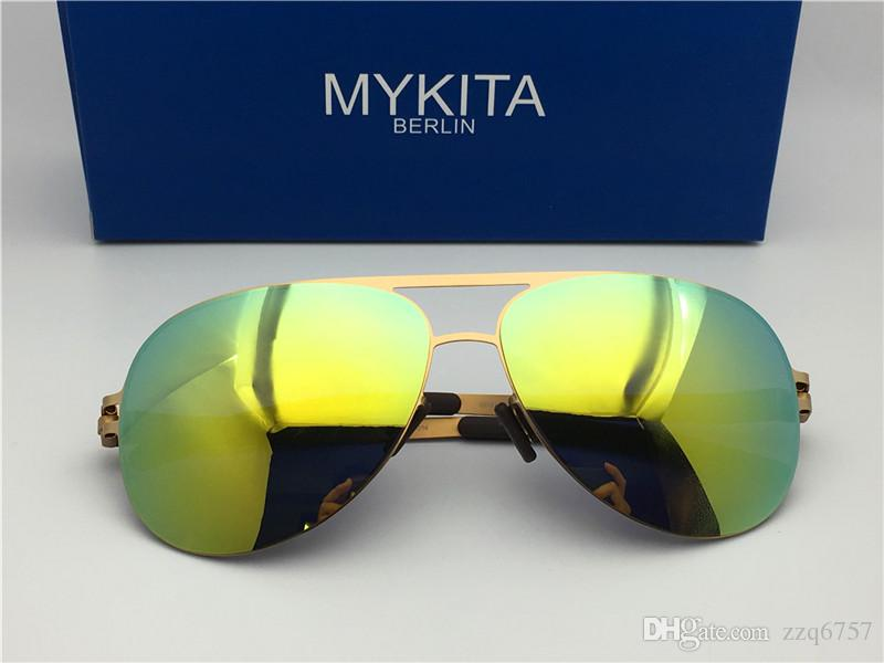 7d487f39f2 New Mykita Sunglasses Ultralight Frame Without Screws Cooper Pilot Frame  Flap Top Men Brand Designer Sunglasses Coating Mirror Lens Womens Sunglasses  ...