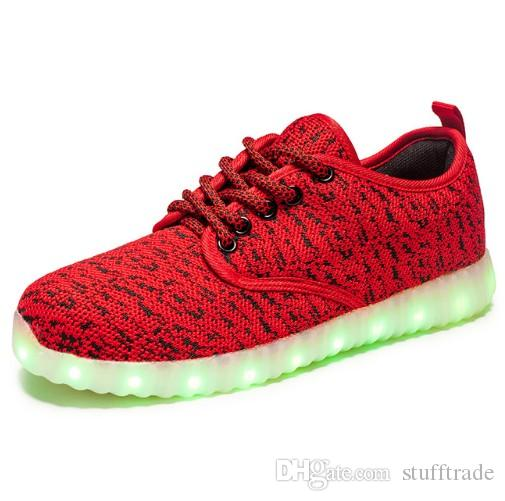 Men Casual Shoes chaussure tenis Led simulation Light trainers led basket laces male shoes Luminous with usb for adults Female