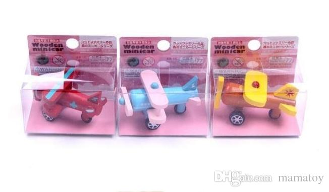 Wooden Plane vehicle Girls and Boys Toys Education Chritsmas Gifts for children The plane model