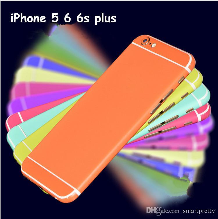 Película protectora de la pantalla de colores para el iPhone 5 6 7 plus