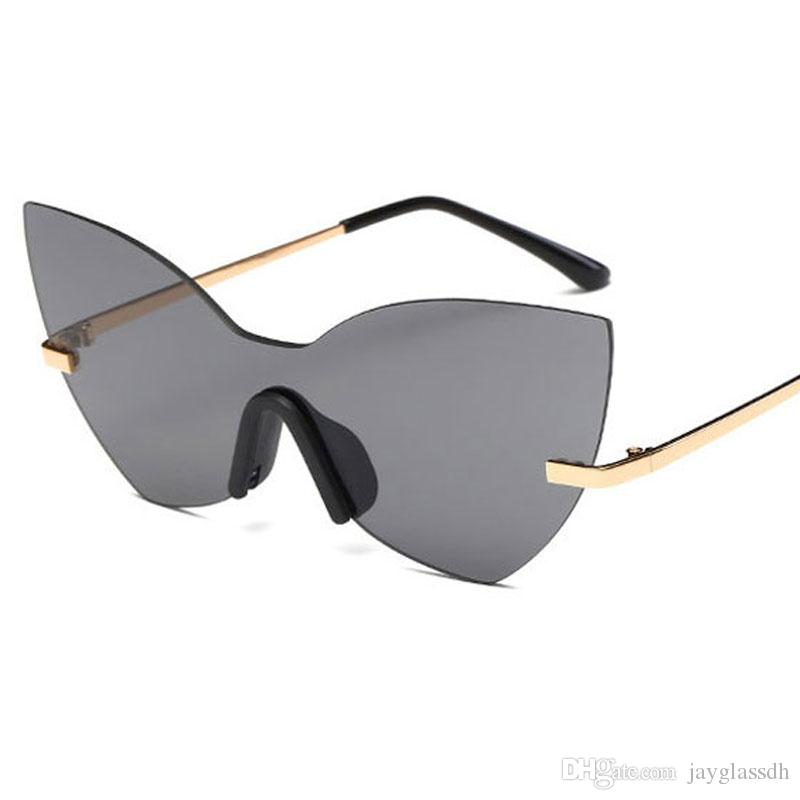 e21b8c8f67 Fashion Unisex Oversized Rimless Sunglasses Women Cutting Lens Men Unique  Glasses HD Mirror Clear Lens 2017 New Popular Design Sunglasses Rimless  Sunglasses ...
