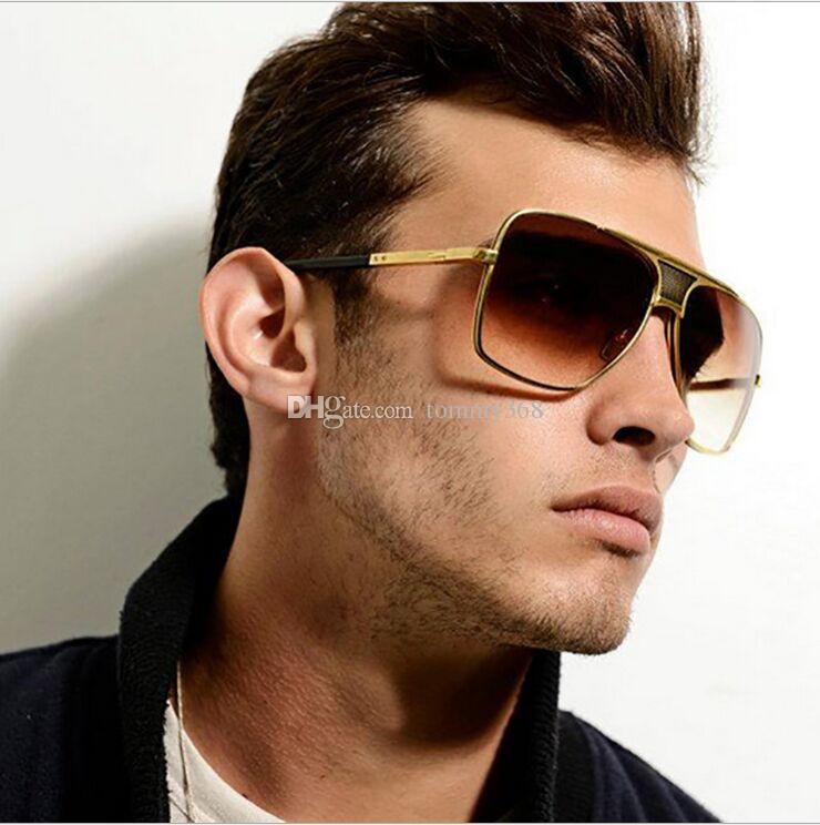 Para Metálica Sol Tendencia Cuadradas Hombre Fashion Alta Montura Clásicas Hombres Gafas De Calidad 2018 Uv400 Europeo 0nyN8wOvmP
