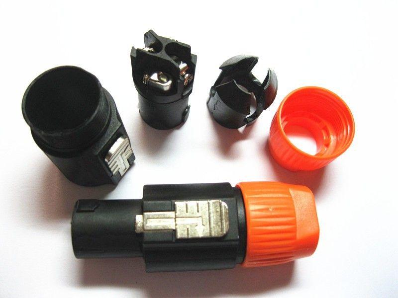 50PCS\Lot High Quality Speakon 4 Pin Male Plug Compatible Audio Cable Connectors