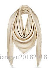 Factory Sell High Quality Luxury classic Letter Wool cashmere scarf Silver thread women's silk Wrap shawl Letter printing Scarves 140*140CM