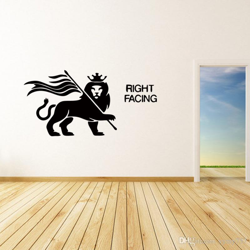 New Style For Rasta Lion Rastafari Of Judah Bob Marley Removable Vinyl Wall Art Sticker Decal Bedroom Sitting Room Diy Custom Wall Decal Custom Wall Decals ... & New Style For Rasta Lion Rastafari Of Judah Bob Marley Removable ...