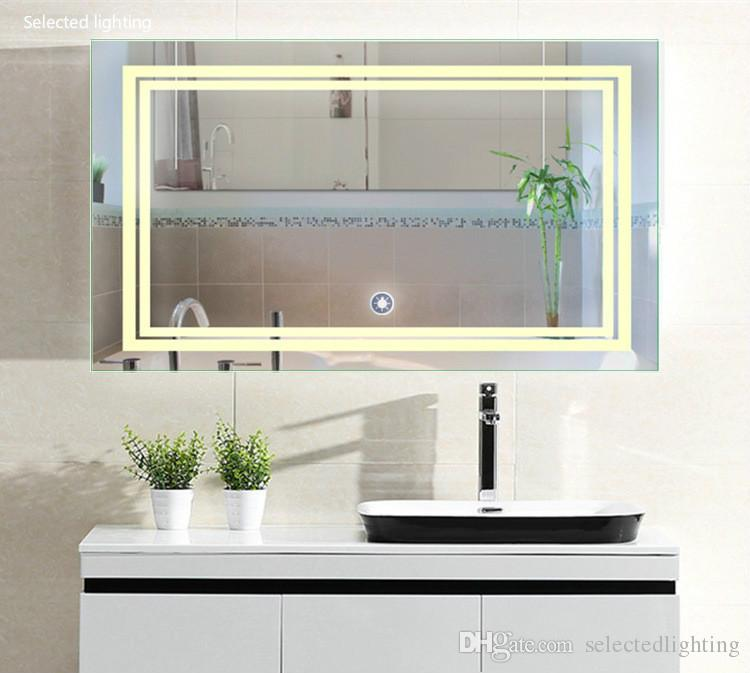 2019 Luxury Decorative Wall Mirrors Led Make Up Mirrors Lights Bathroom Mirror With Touch Switch