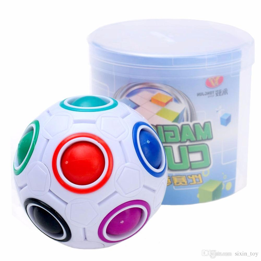 Rainbow Ball Magic Cube Speed Football Fun Creative Spherical Puzzles Kids Educational Learning Toys games for Children Adult Gifts 150pcs