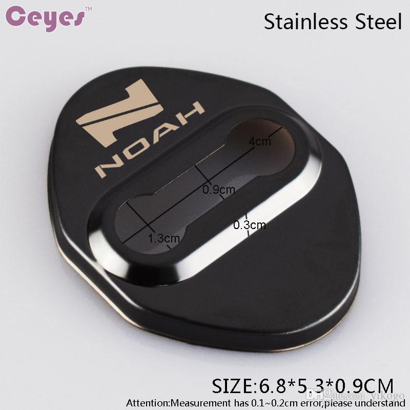 Auto door lock cover case NOAH car emblems badge for noah toyota corolla c-hr rav4 door lock protector car accessories styling