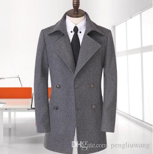 d46b51ca34f 2019 Teenage Casual Woolen Coat Men Trench Coats Overcoat Mens Cashmere  Coat Casaco Masculino Inverno Erkek England Plus Size S 9XL From Pengliuwang