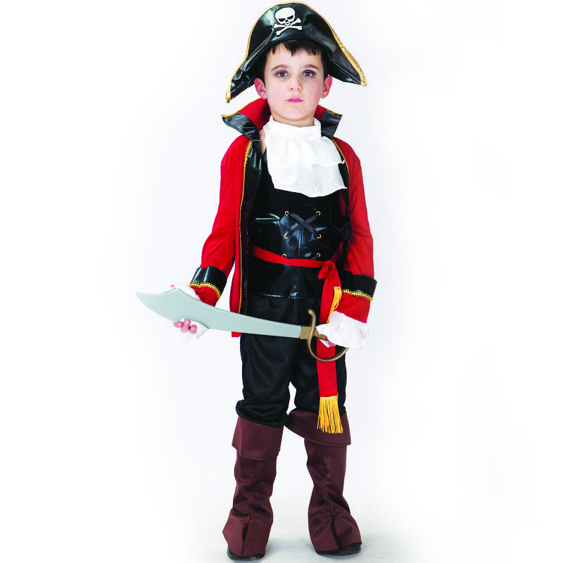 Shanghai Story Children pirate cosplay costume role playing costume boys party clothes Christmas costumes for kids