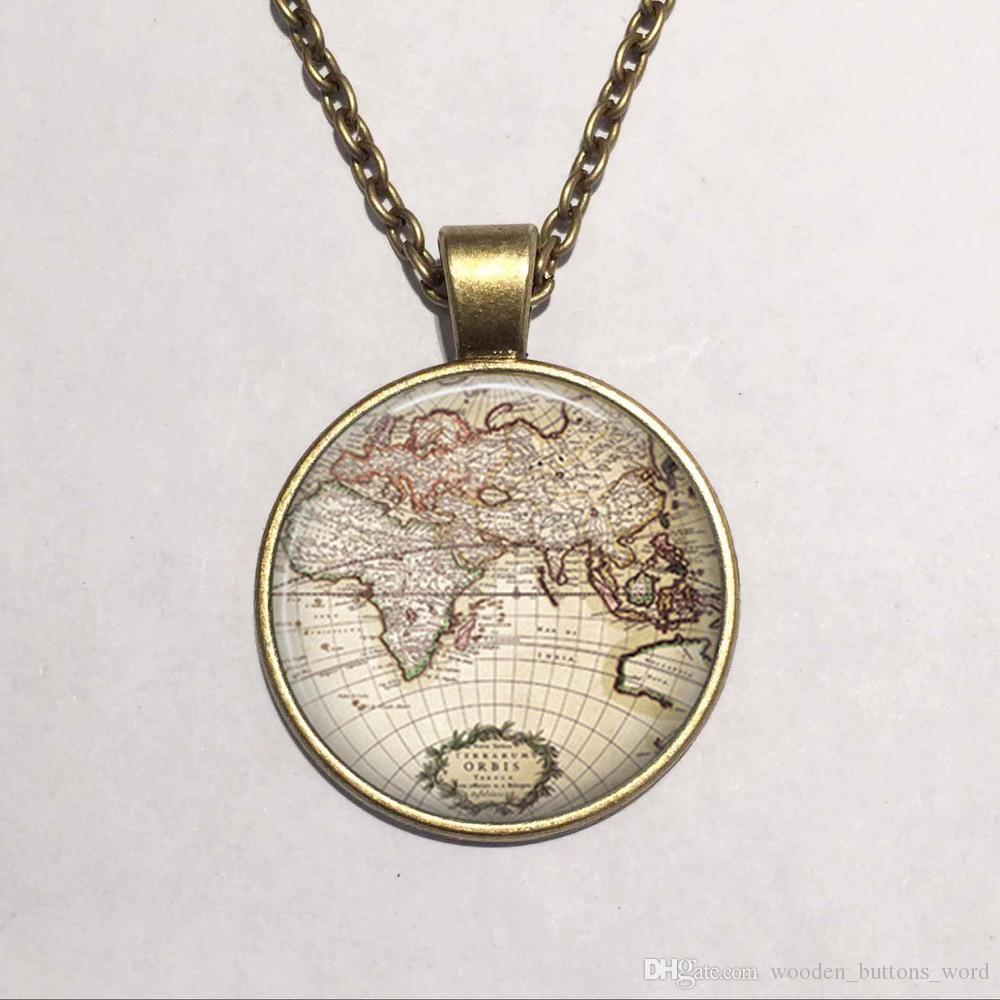 Glass dome vintage globe necklace vintage world pendant world map glass dome vintage globe necklace vintage world pendant world map jewelry keepsake map pendant necklace pendant fashion online with 399piece on gumiabroncs Image collections