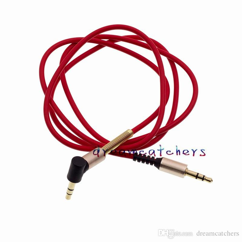 Aluminium Alloy AUX Auxiliary Male to Male Bend Audio Cable 90 Degree Right Angle Cord Extension 1m 3ft for iphone MP3 Speaker Computer