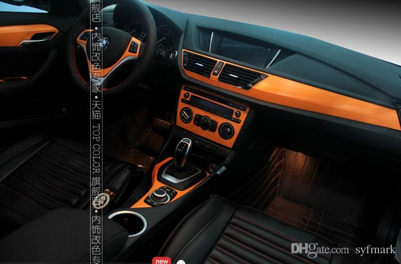 Car Styling Carbon Fiber Sticker For Bmw Xchange Set Stickers Interior Decoration Protection