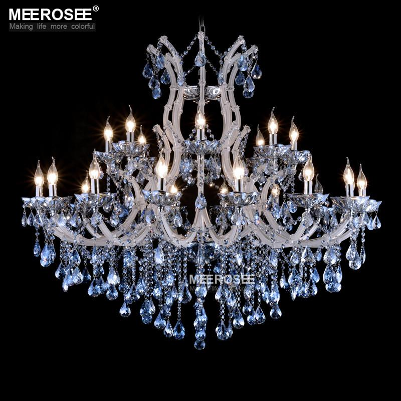 Blue color maria theresa crystal chandelier lamp light lighting blue color maria theresa crystal chandelier lamp light lighting fixture large white chandelier lusters d1200mm h1000mm blue crystal chandelier crystal aloadofball Gallery