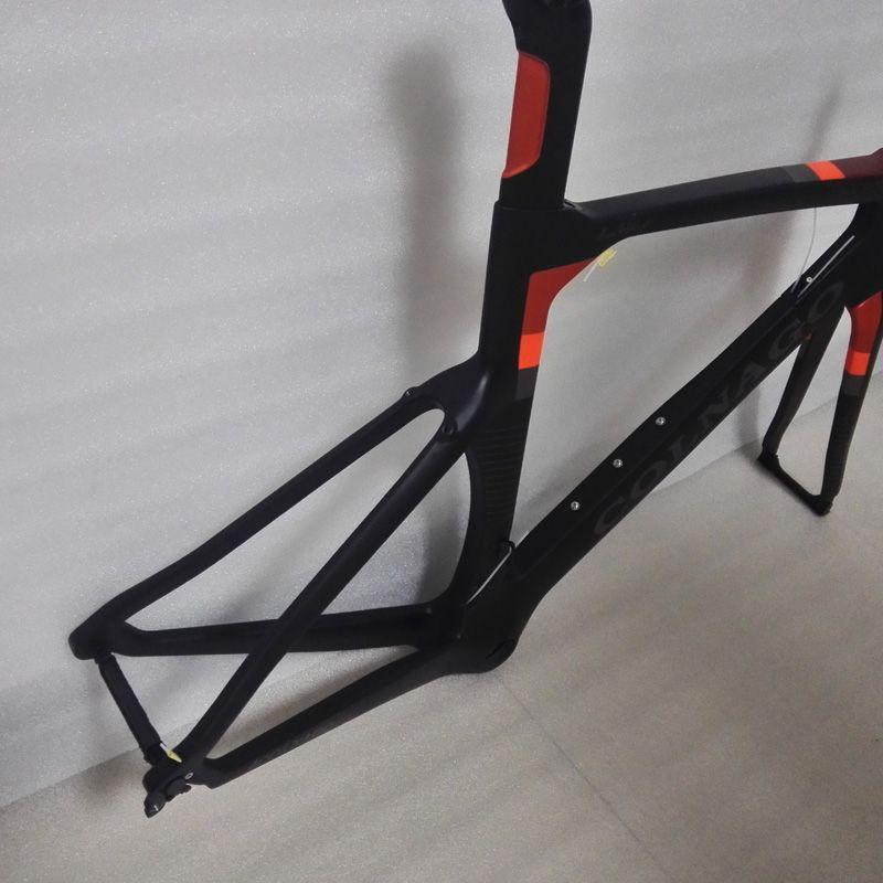 Venta al por mayor 2018 colnago Concept Road Bicyle Cuadro de carbono Cuadro de bicicleta de carbono Tamaño XXS, XS, S, M, L, XL BB386 cuadro de cuadro