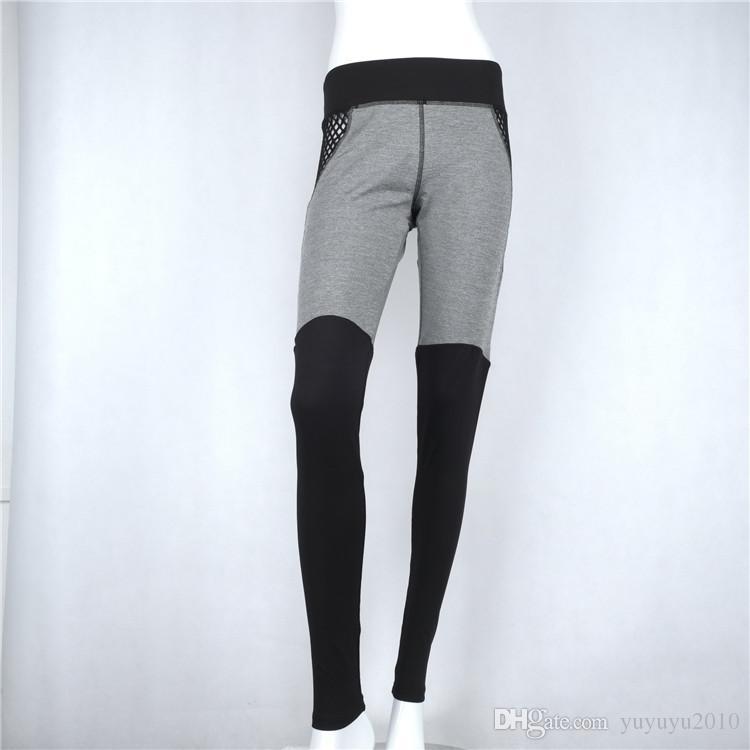 Compre 2017 Mujeres Deportes Pantalones De Yoga Malla De Malla Hilo Neto  Neto Leggings Gimnasio Skinny Gimnasio Ropa Deportiva Pantalones Pantalones  Mujer A ... 3f19f0ff35be