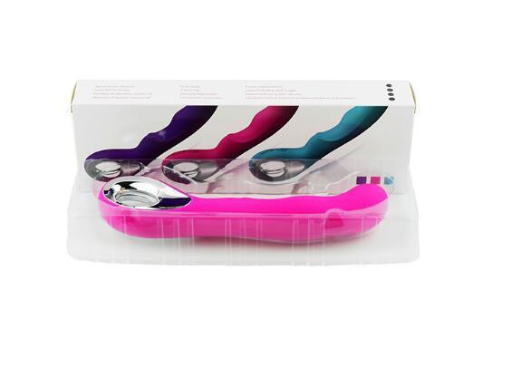Oral Clit Vibratoren, USB Wiederaufladbare AV Zauberstab Massager 10 Geschwindigkeit G-punkt Vibrator Sexspielzeug für Frauen Rosa / Lila
