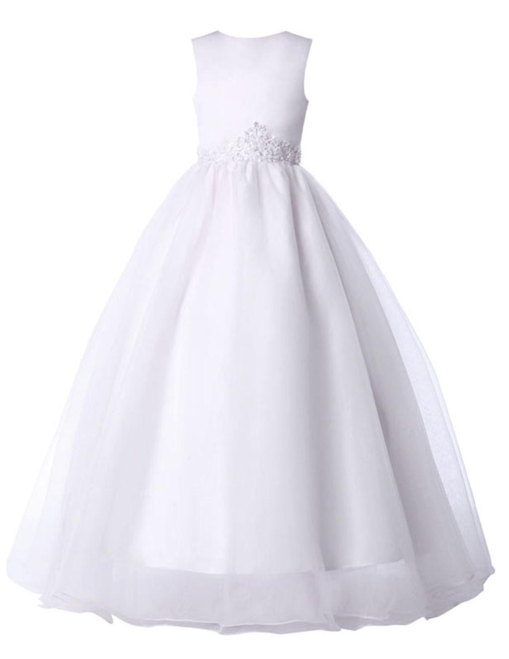 Grace Karin Flower Girl Dresses For Weddings 2016 First Girls Communion Kids Dream White Pageant 4491 Wedding Gowns Bridal