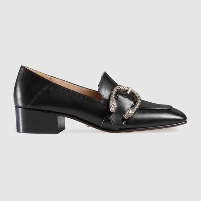 ÜST KALİTE! U713 40 Hakiki Deri Toka 2 Yollar Slaytlar Med Topuklu Mules Ayakkabı İş Moda G Beyaz Siyah