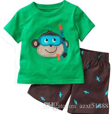 514ce9259b15 New Summer Girls Boys Pajamas Suit Children Clothing Sets Baby Girl ...