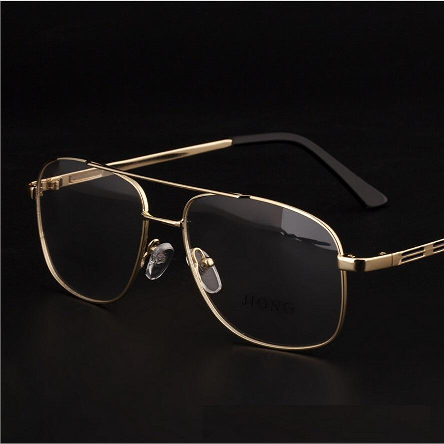 a77895c02f Wholesale- Brand Designer Retro Gold Eyeglasses Frames Men Eye ...